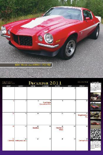2011 NastyZ28 Camaro Calendar