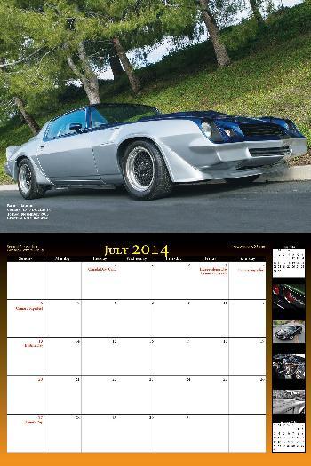 2014 NastyZ28 Camaro Calendar