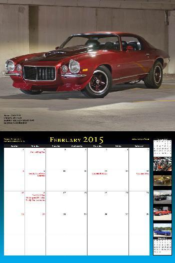 2015 NastyZ28 Camaro Calendar
