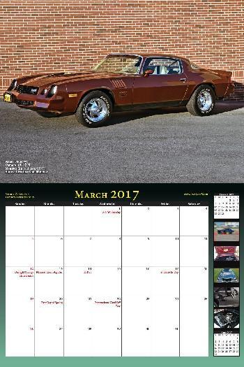 2017 NastyZ28 Camaro Calendar