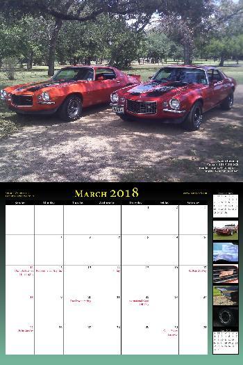 2018 NastyZ28 Camaro Calendar