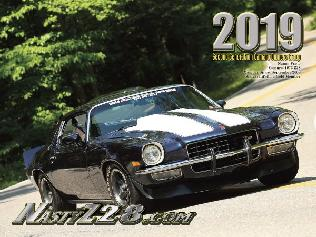 2019 NastyZ28 Camaro Calendar - cover