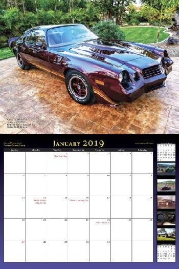 2019 NastyZ28 Camaro Calendar
