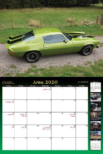 2020 NastyZ28 Camaro Calendar