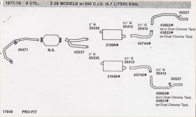 1975+ High Performance Exhaust system (single, but with dual resonators)