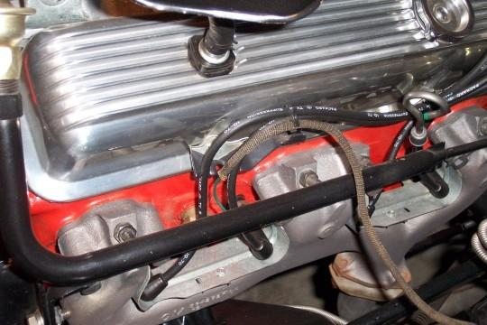log style exhaust manifold with AIR tubes