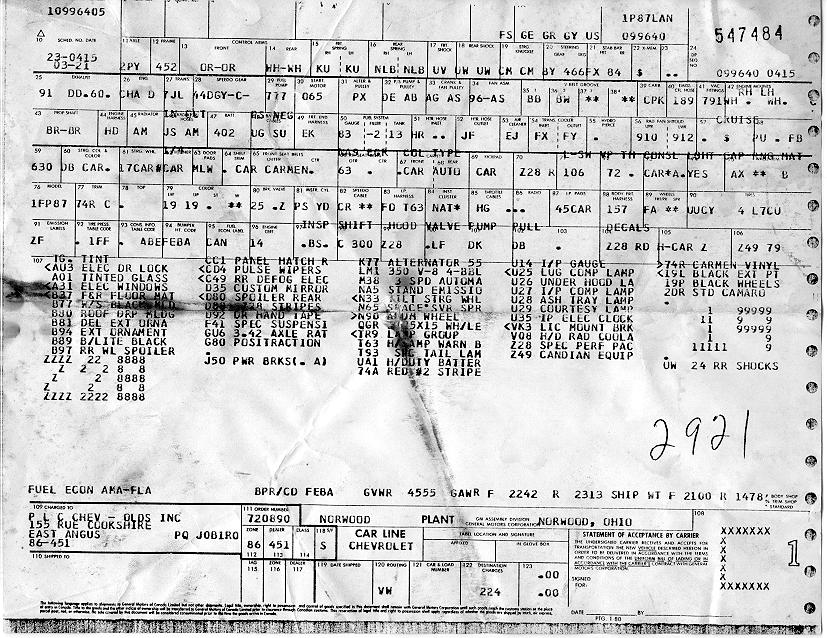 build 1980 camaro data statistics, facts, decoding, figures 1981 camaro z28 wiring diagram at gsmportal.co