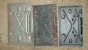 License plate brackets (rear)