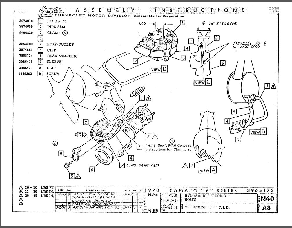 chevelle power steering pump diagram