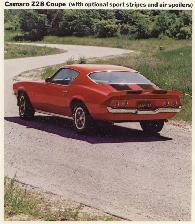 1973 Z28 Sales Album Picture