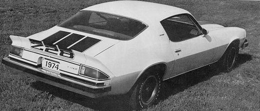 1974 Camaro Data Statistics Facts Decoding Figures