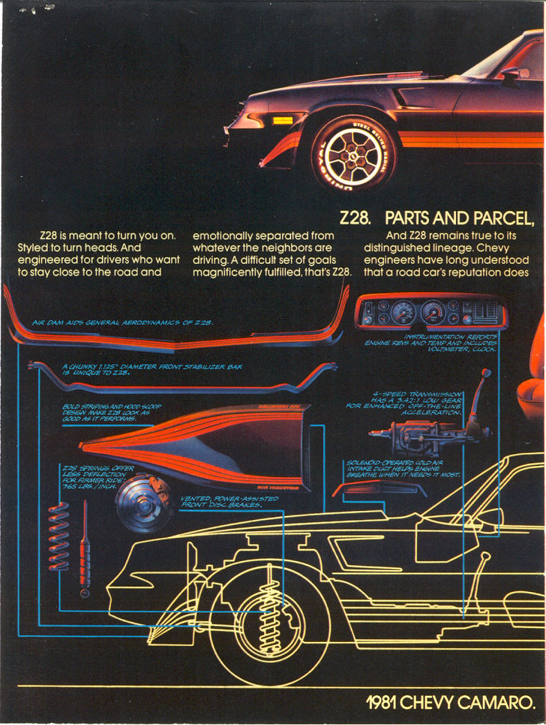 1981 Camaro data  Statistics facts decoding figures