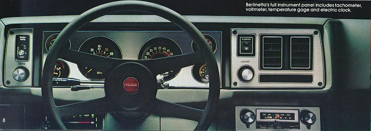 1981 Camaro Sales Brochure Custom Interior