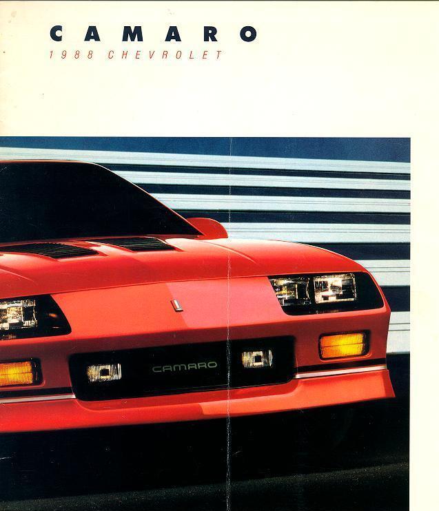 1988 camaro sales brochure for Interior 88 camaro