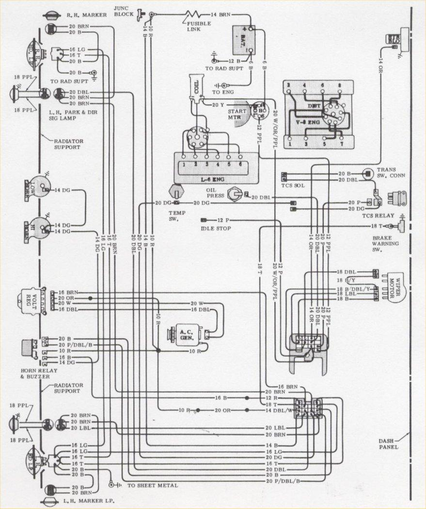 Camaro Wiring Electrical Information 1986 Buick 3800 Engine Diagram Schematic Fwd Light 1970