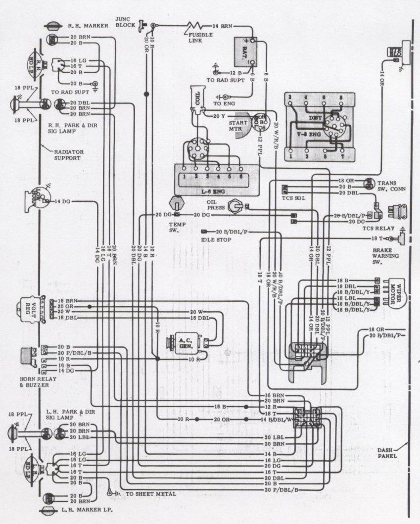 1971 camaro engine  u0026 forward light wiring schematic