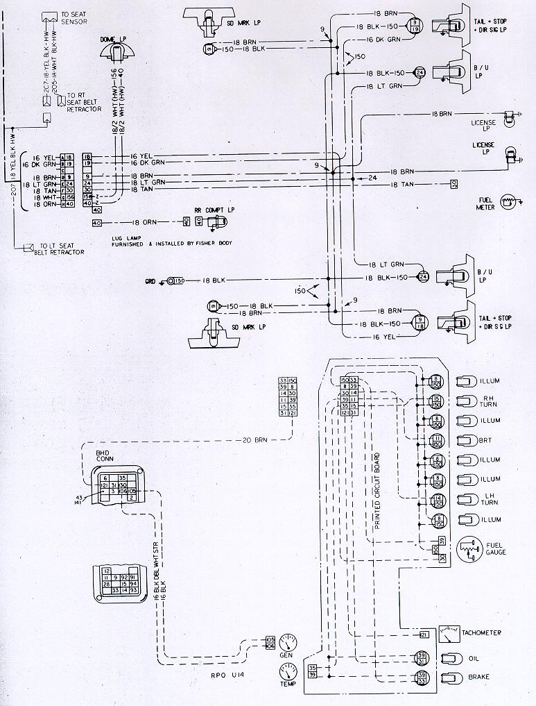 1973 camaro tail light wiring schematic
