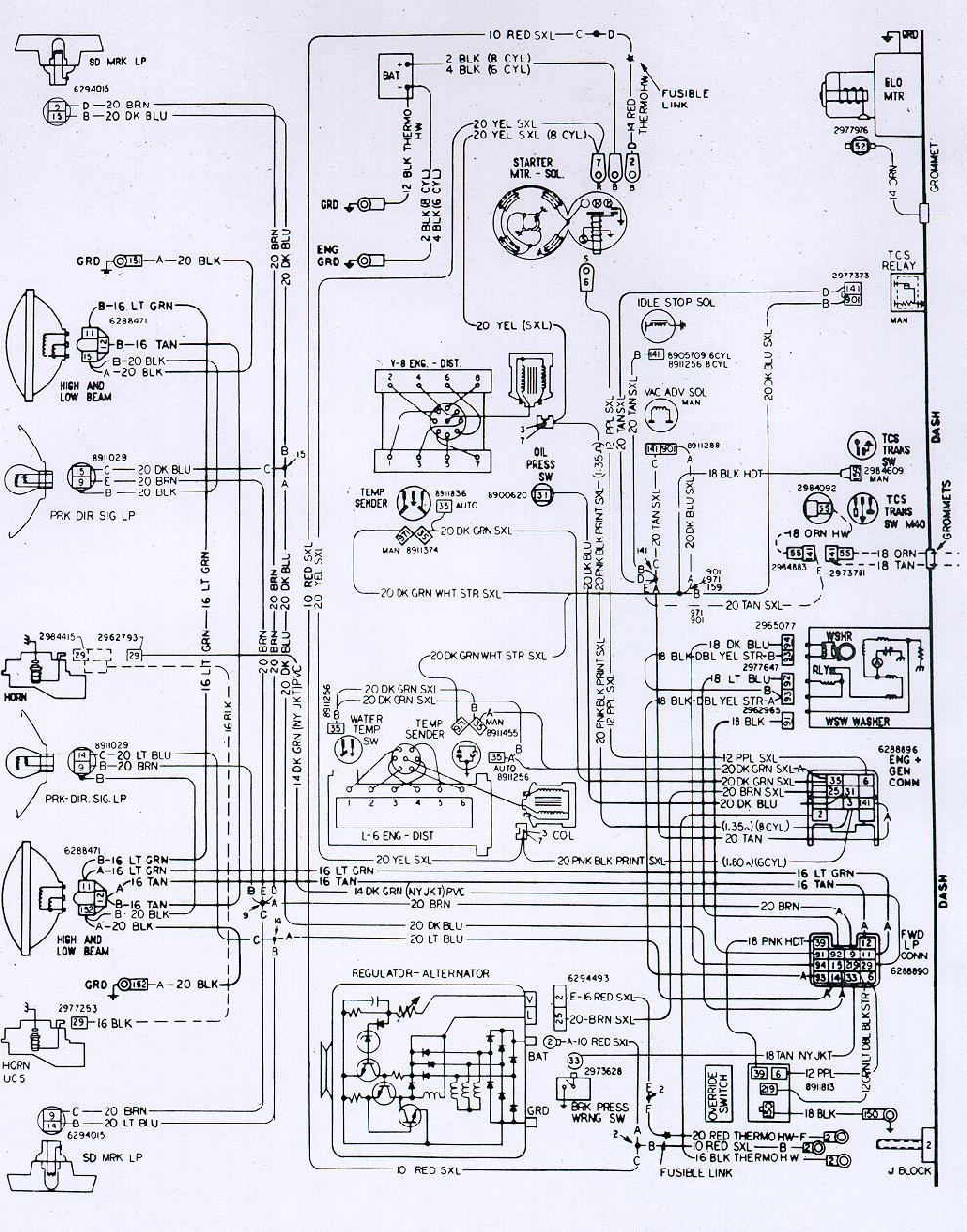 74eng camaro wiring & electrical information 1978 chevy wiring diagram at bakdesigns.co