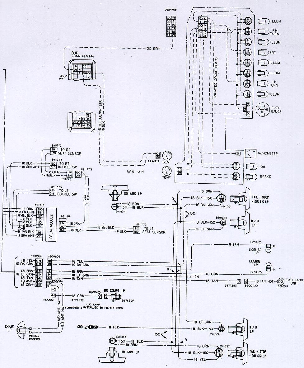 Camaro Wiring Electrical Information Engine Interior Diagram Bay 1974