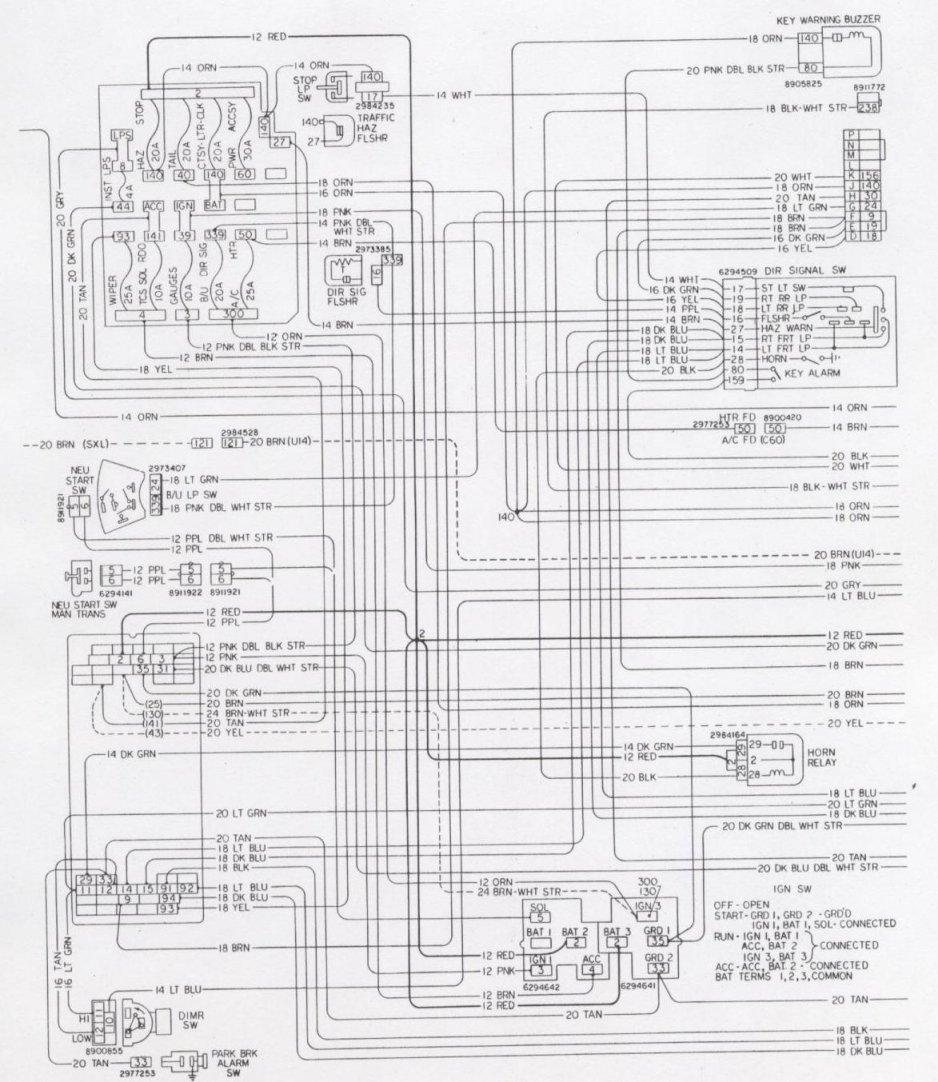 Camaro Wiring Electrical Information Body Diagram For 1955 Chevrolet Passenger Car Convertible Interior 76