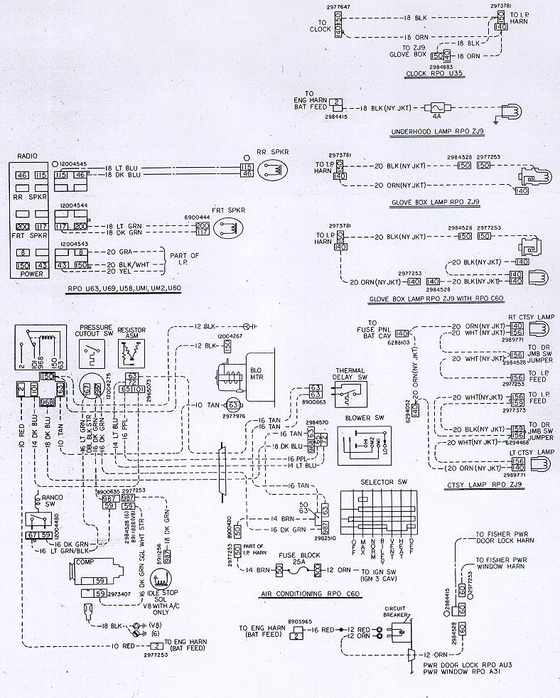 78w acopt camaro wiring & electrical information 1978 chevy wiring diagram at bakdesigns.co