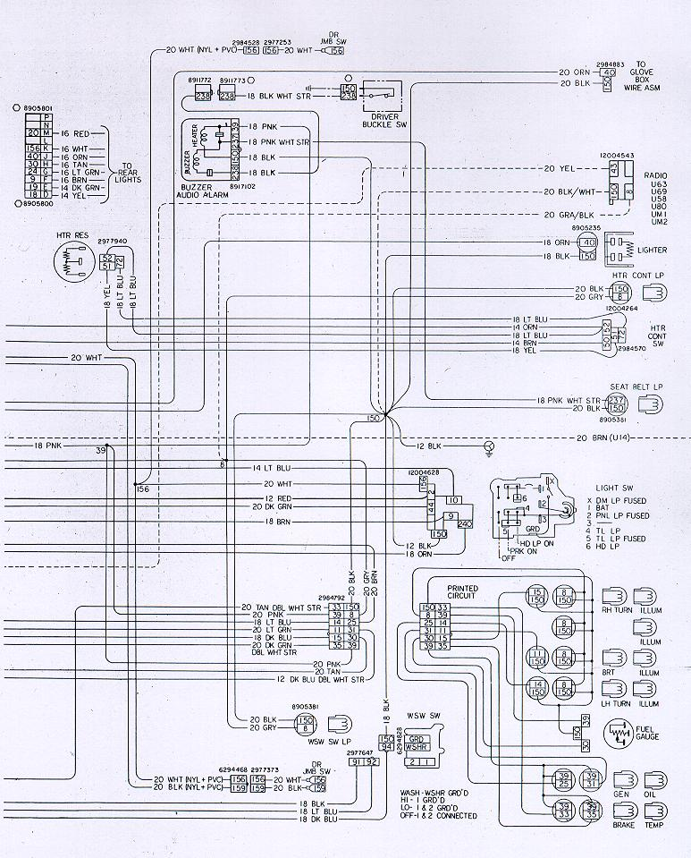 78w ip camaro wiring & electrical information Turn Signal Wiring Diagram at gsmx.co
