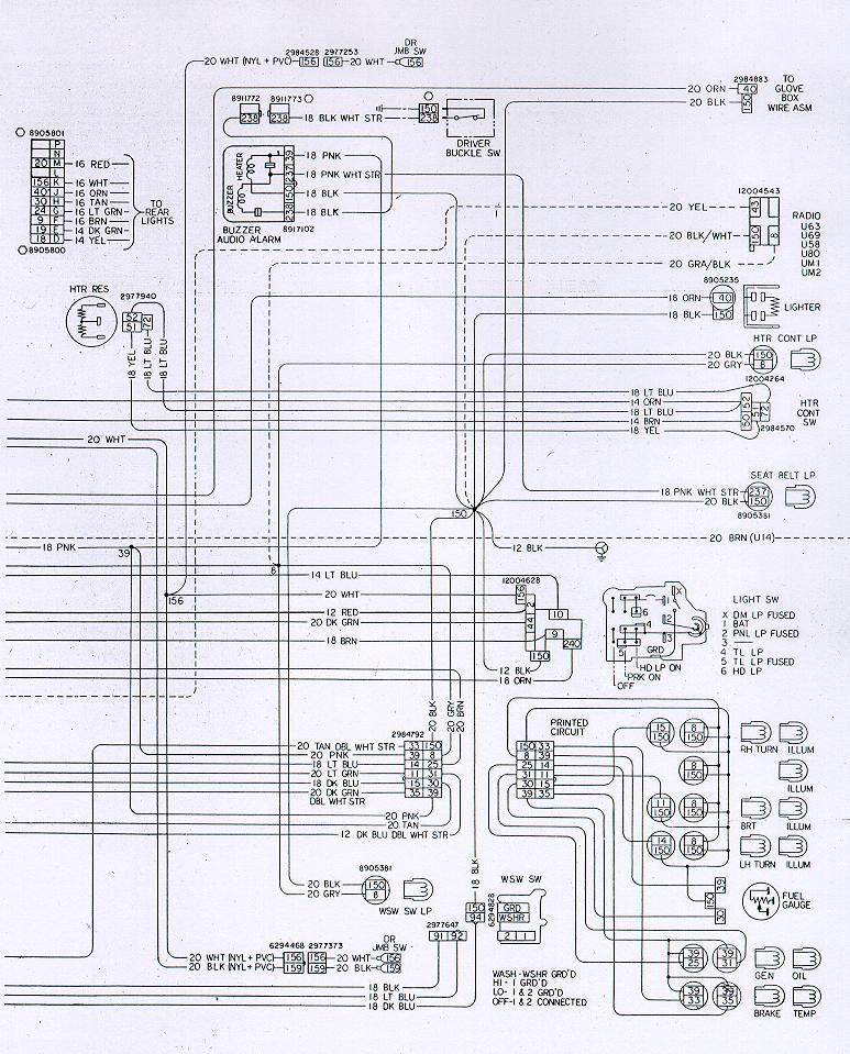 1980 Chevrolet K20 Instrument Cluster Wiring Gas Gauge Color from www.nastyz28.com