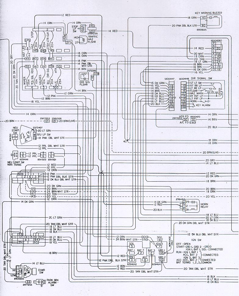 78w ip1 camaro wiring & electrical information Turn Signal Wiring Diagram at gsmx.co