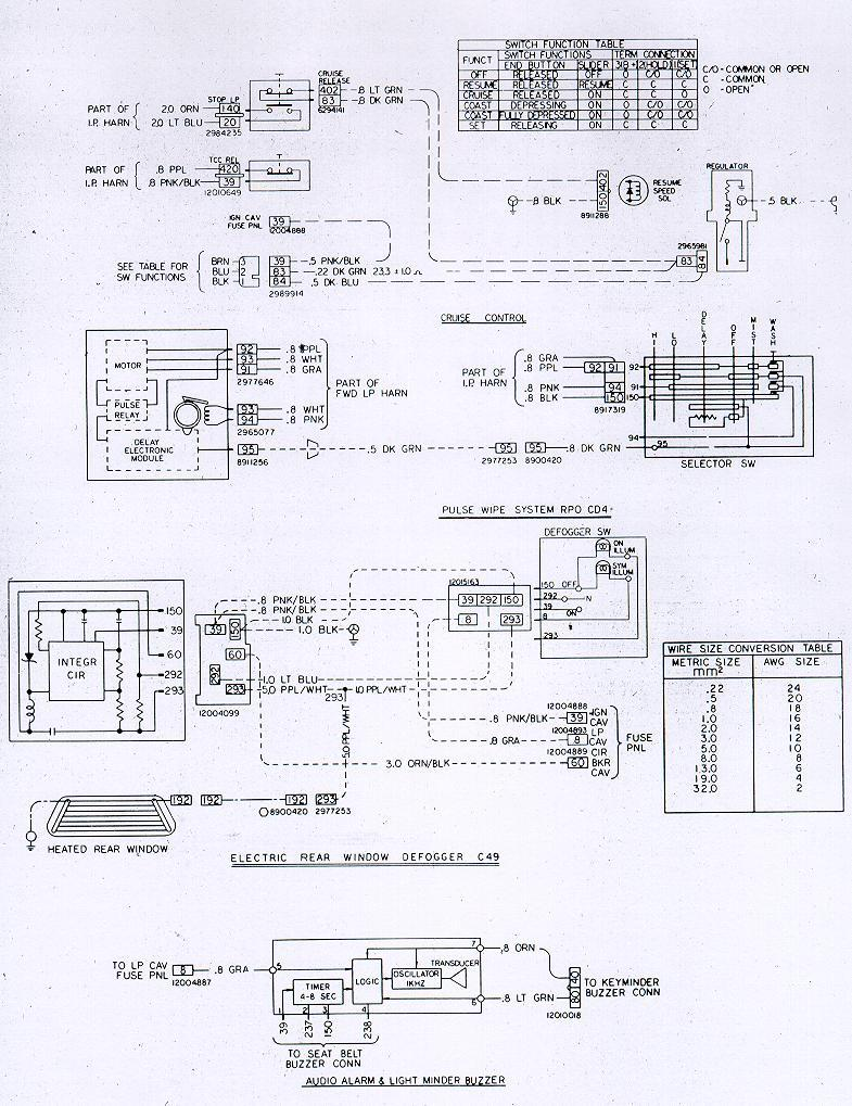 Rear Defrost Wiring Diagram