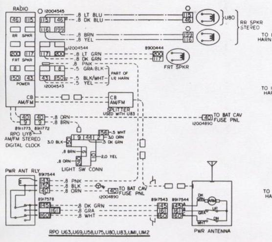 radio wire camaro radio equipment information 1976 camaro wiring diagram at fashall.co