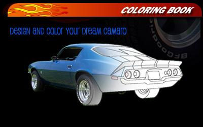 camaro coloring book