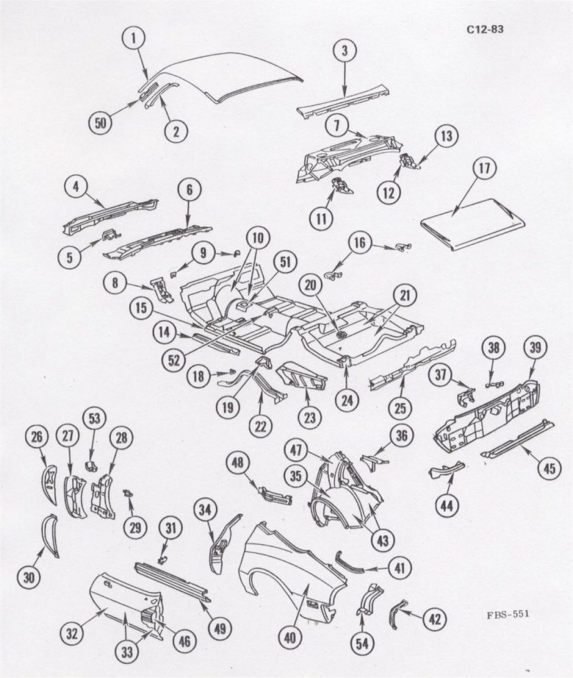 1980 Camaro Pdm Assembly Service Info Engine Parts Diagram Names Body Exploded
