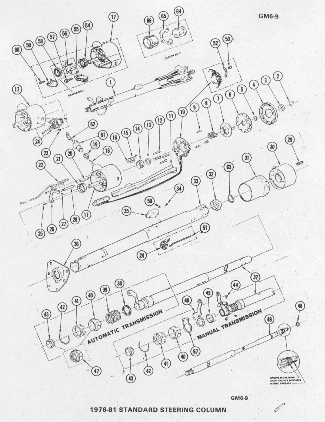 1976 corvette steering column diagram