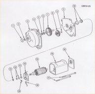 Standard wiper motor & parts list