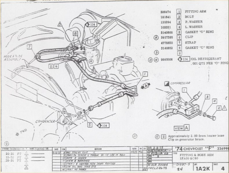 67 camaro motor diagram