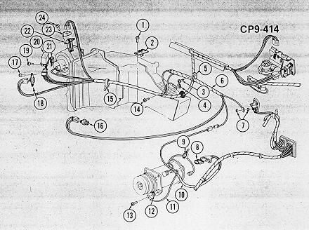 wiring harness routing (1974) | 1972