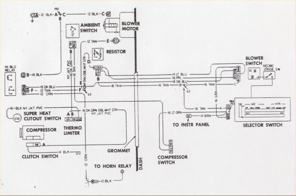 ac wd camaro air conditioning system information and restoration 1972 Chevelle Engine Wiring Diagram at beritabola.co