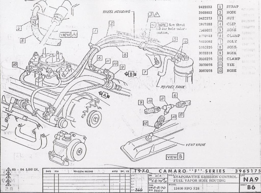 View Fuel Tank Weec 1970 Hose Routing L78 Wna9: Chevy 305 Vacuum Diagram At Downselot.com