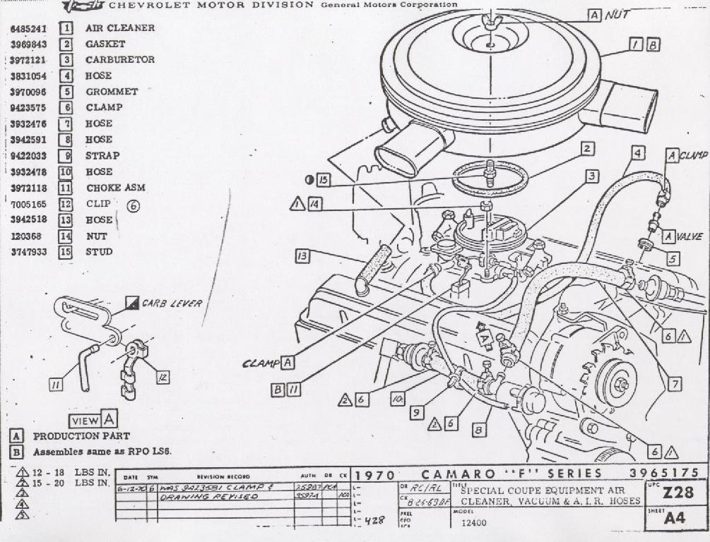 camaro emission system information rh nastyz28 com chevy 350 engine wiring diagram chevy 350 v8 engine diagram
