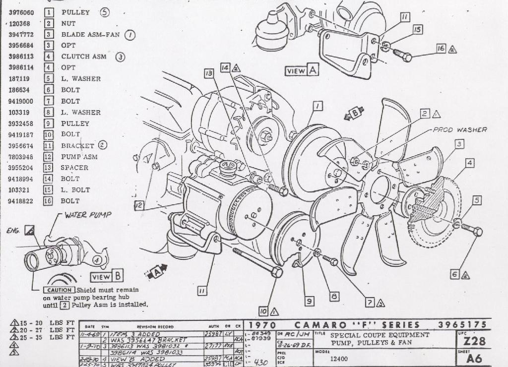 camaro emission system information Fire Pump Diagram air pump, pulley \u0026 fan