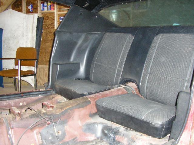 Installing rear interior